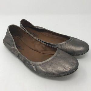 Lucky Brand Leather Emmie Flats Metallic Bronze